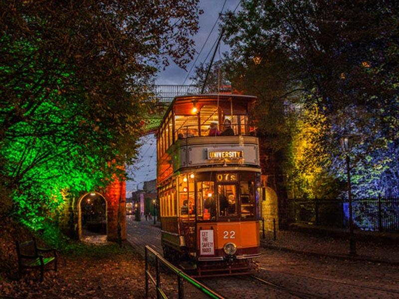 halloween crich tramway village